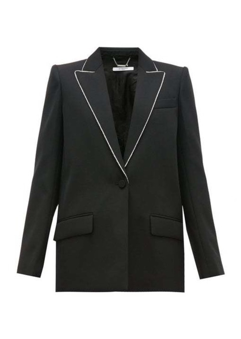 Givenchy Crystal-trim single-breasted wool jacket