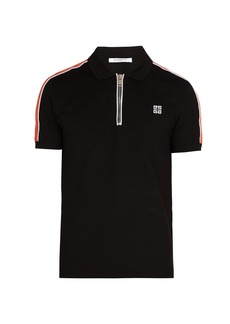 Givenchy Cuban-fit half-zip cotton-piqué polo shirt