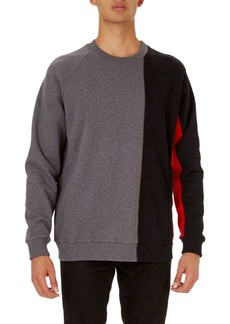 Givenchy Cuban-Fit Panel Pullover Sweatshirt with Zip at Hem
