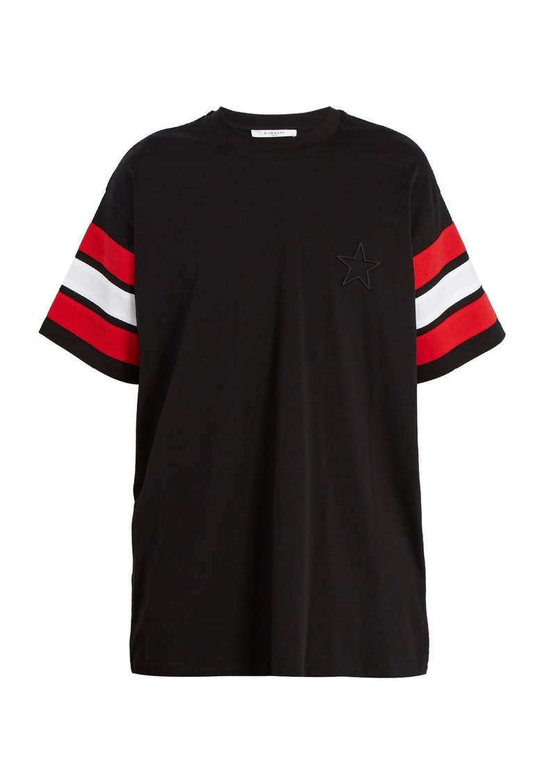 80e04973dea21 Givenchy Givenchy Cuban-fit star-appliqué cotton T-shirt | T Shirts