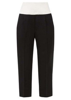 Givenchy Cummerbund-waist cropped wool-crépe trousers