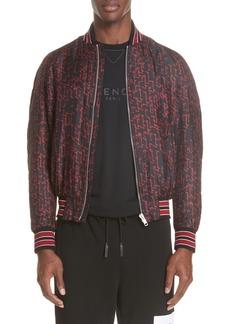 Givenchy Cursive Silk Bomber Jacket