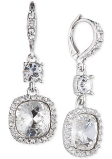 Givenchy Cushion-Stone and Crystal Drop Earrings