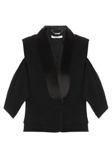 Givenchy Cutaway shoulder tux jacket
