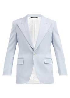 Givenchy Cutaway single-breasted twill suit jacket