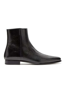 Givenchy Dallas crackled-leather ankle boots