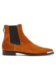Givenchy Dallas metal-toe suede Chelsea boots