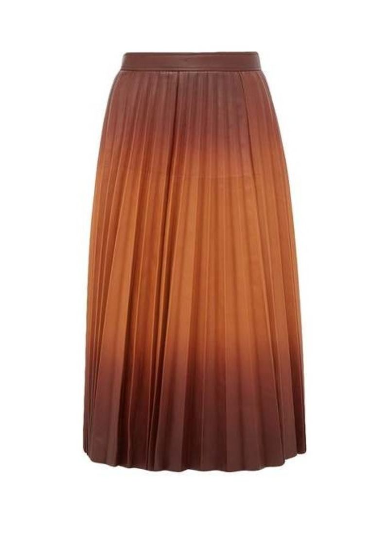 Givenchy Degradé pleated-leather midi skirt