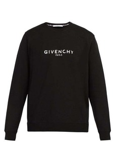 Givenchy Distressed-logo cotton sweatshirt