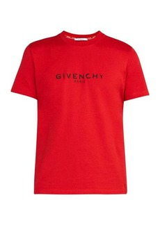 Givenchy Distressed-logo cotton T-shirt