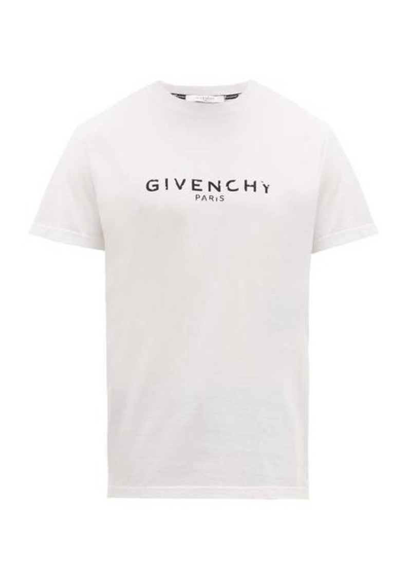 Givenchy Distressed logo-print cotton T-shirt
