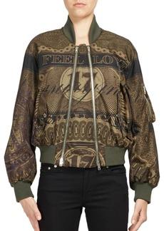 Givenchy Dollar Bill-Print Bomber Jacket
