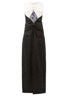 Givenchy Double bow, lace & chinzed floral-jacquard gown