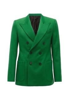 Givenchy Double-breasted peak-lapel crepe jacket