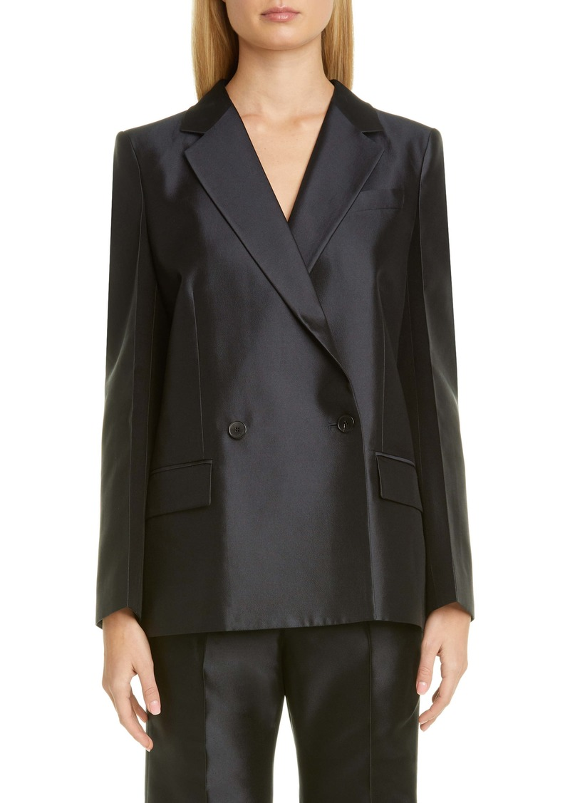 Givenchy Double Breasted Wool & Silk Jacket