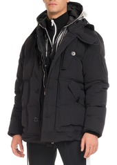 Givenchy Down Coat with Logo Hood