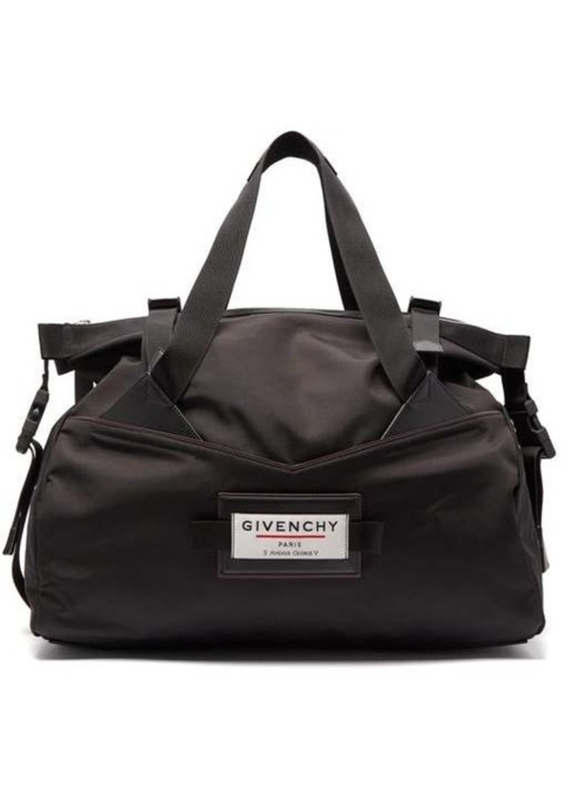 Givenchy Downtown logo-patch holdall