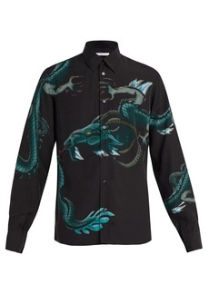 Givenchy Dragon-print crepe shirt