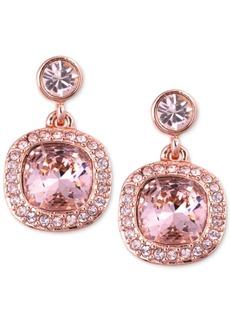 Givenchy Earrings, Rose Gold-Tone Swarovski Light Pink Stone Drop Earrings