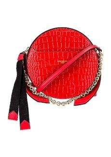 Givenchy Eden Embossed Croc Round Shoulder Bag