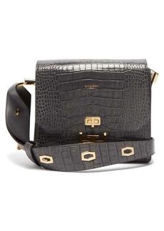 Givenchy Eden medium crocodile-effect leather messenger bag