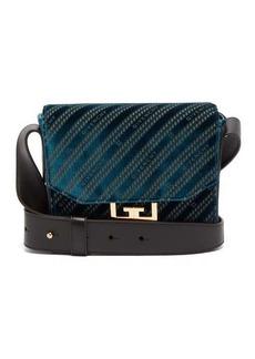 Givenchy Eden small monogram-velvet messenger bag