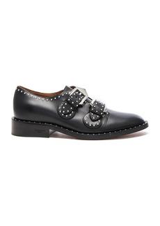 Givenchy Elegant Leather Monk Strap Oxfords