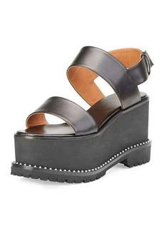 Givenchy Elegant Leather Wedge Sandal