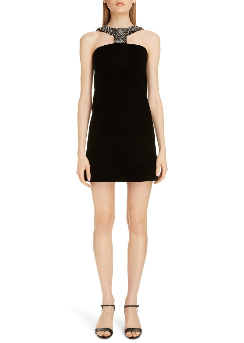 Givenchy Embellished Halter Minidress