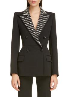 Givenchy Embellished Lapel Wool & Silk Jacket