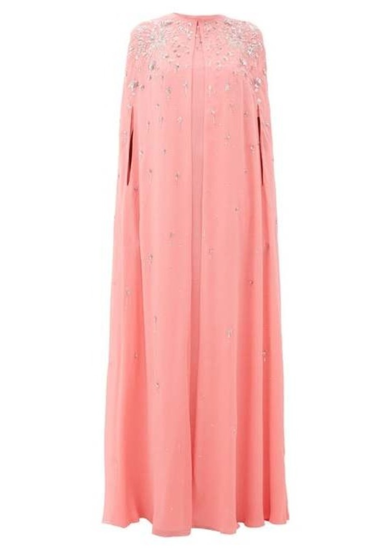 Givenchy Embellished silk-georgette maxi-length cape