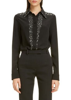 Givenchy Embellished Silk Shirt
