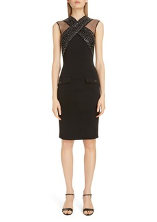 Givenchy Embellished X Front Body-Con Dress