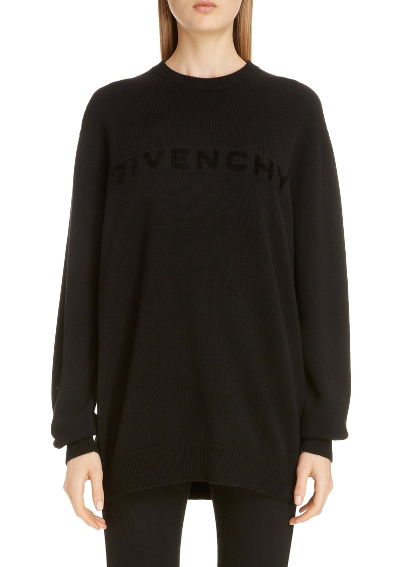 Givenchy Embroidered Logo Cashmere Sweater