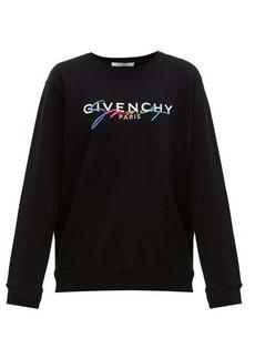 Givenchy Embroidered logo-print cotton sweatshirt