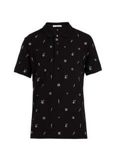 Givenchy Embroidered-motif cotton polo shirt