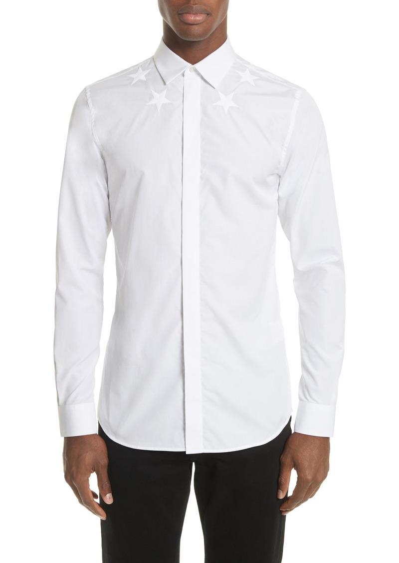 7b0d5efdb5b Givenchy Givenchy Embroidered Star Dress Shirt