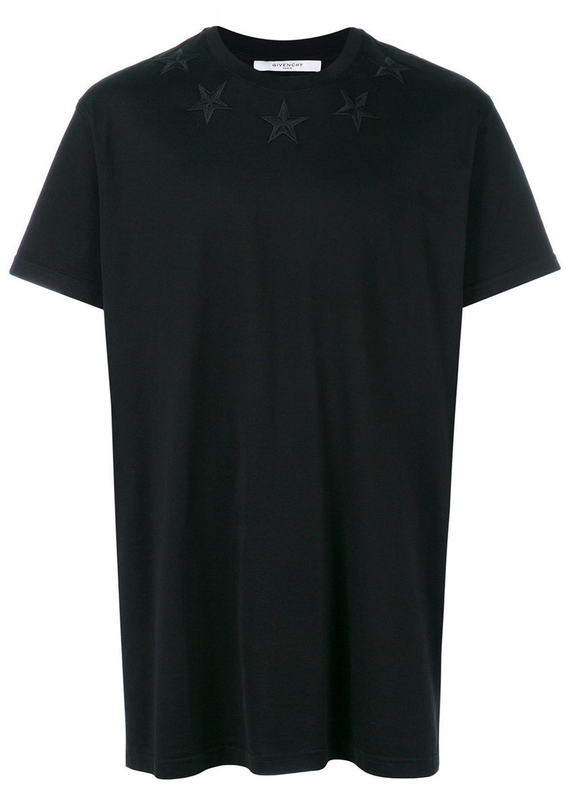 4cbd3c34bc7 Givenchy embroidered star oversized T-shirt