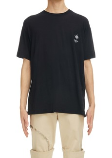 Givenchy Empty Frame Logo Oversize Graphic Tee