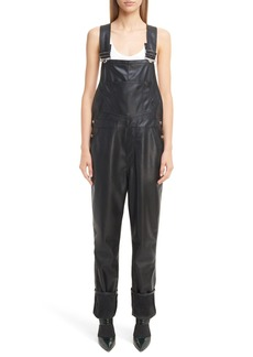 Givenchy Faux Leather Overalls