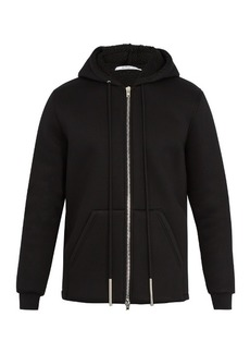 Givenchy Faux-shearling lined hooded neoprene sweatshirt
