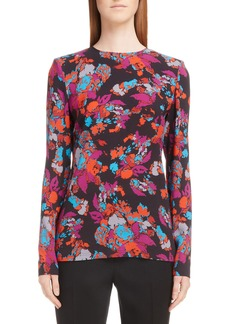Givenchy Fire Print Silk Blouse
