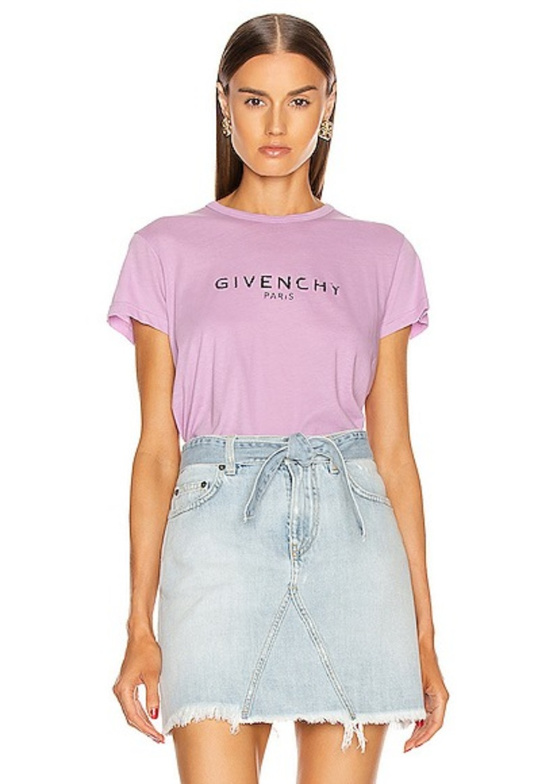 Givenchy Fitted Short Sleeve T Shirt