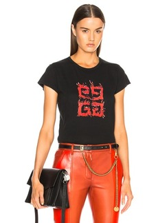 Givenchy Flame 4G Graphic Tee
