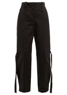 Givenchy Flamme strap cotton cargo trousers