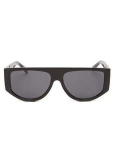 Givenchy Flat-top oval acetate sunglasses