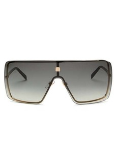 Givenchy Flat-top shield metal and acetate sunglasses