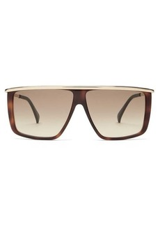 Givenchy Flat-top tortoiseshell-effect acetate sunglasses