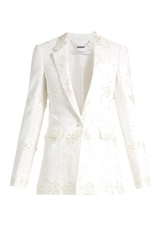 Givenchy Floral-embroidery stretch-crepe jacket