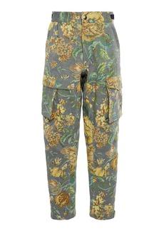 Givenchy Floral-Jacquard Cotton-Blend Cargo Pants